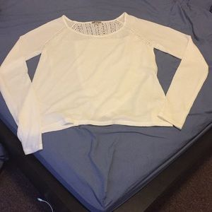Lucky Brand Lace Mixed Thermal, White